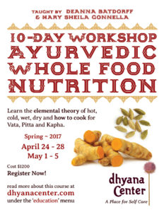 10-Day Workshop: Ayurvedic Whole food Nutrition @ Dhyana Center | Sebastopol | California | United States